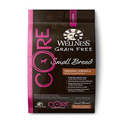 Wellness CORE Natural Grain Free Dry Dog Food, Small Breed Health Recipe, 12-Pound Bag