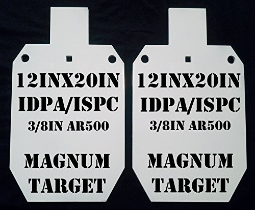 12x20 IDPA AR500 Gong Shooting Target - 3/8in Rifle Target - 2pc. Steel Target