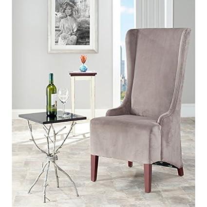 Safavieh Mercer Collection Stella Velvet Side Chair Dark Grey