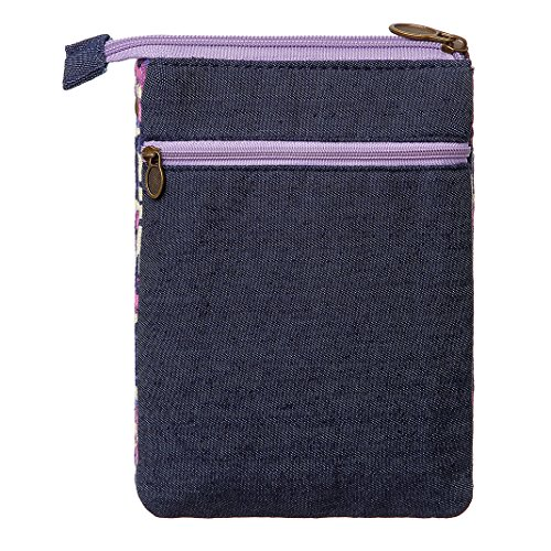 Wallet Style Purple National Women Crossbody Small Bags Purse Cell Canvas Phone Purse qXwwEHZ