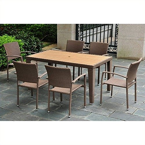 Set of 7 Barcelona Resin Wicker/Aluminum Dining - Group Abns