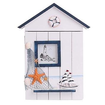 Amazon.com: Caja de madera para colgar llaves en la pared ...