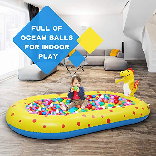 Kiddie Pool, Inflatable Pool for Kids, Dinosaur Kids Pools for Backyard, Swimming Pool for Kids,Water Sprinkler for Kids, Kiddie Infant Baby Toddlers Pools for Outside (Same Product 2)