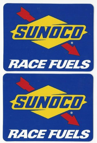 Sunoco Race Fuels Racing Decals Stickers 4 Inches Long Size Set Of 2