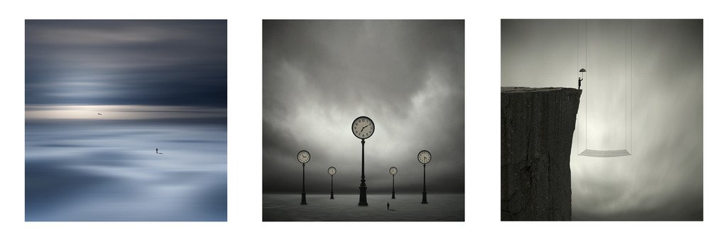 Triptych Bundle (Small) - Philip McKay - ''Learning To Fly'', ''New Horizon'', ''Another Time, Another Place'' by