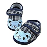 Toddler Kid Baby Girl Walking Shoes,Thenlian Soft Sole Crib Toddler Shoes Canvas Sneaker for Boys and Girls(0~6 Month, Blue)