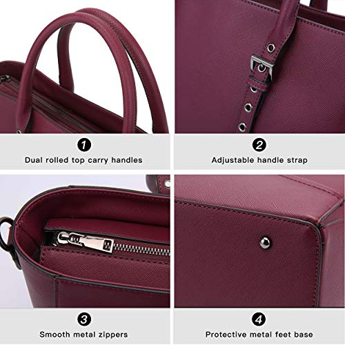 Laptop Tote,15.6 Inch Laptop Tote Bag Professional Briefcase for Women Sturdy Work Bags Multi-Compartment with Padded Lining for Notebook Tablet iPad by EaseGave (Image #2)