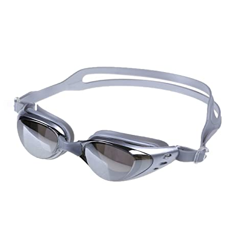 e027e13ecd1 Plating Smooth Waterproof Anti-fog Goggles Adult HD Men Women General Frame Swimming  Glasses 3 Pcs