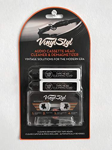 Vinyl Styl Audio Cassette Head Cleaner & Demagnetizer (Cassette Head Cleaner Tape)