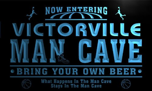 qc2274-b Victorville State Cities Man Cave Basketball Bar Neon Beer Light Sign (City Of Victorville)