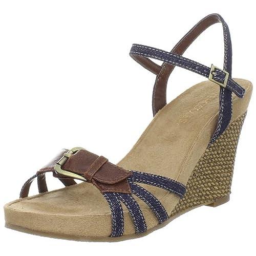 Aerosoles Women's Plush Around Wedge Sandal,Denim Combo,9 M US