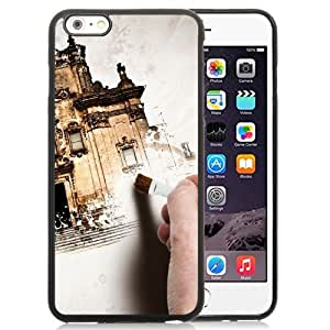 NEW Unique Custom Designed iPhone 6 Plus 5.5 Inch Phone Case With Hand Painting Old Building_Black Phone Case