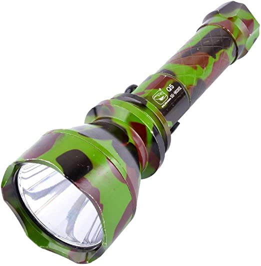 QJIN Linterna LED Proyector de Aluminio Luz Fuerte Linterna ...
