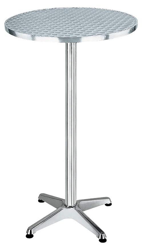Tavolo Tondo Alluminio.Homegarden Tavolo Rotondo In Alluminio E Acciaio Amazon It