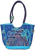 Indigo Cat Scoop Tote by Laurel Burch