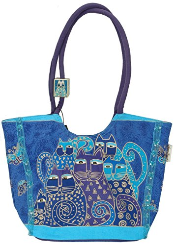 Indigo Cat Scoop Tote by Laurel ()