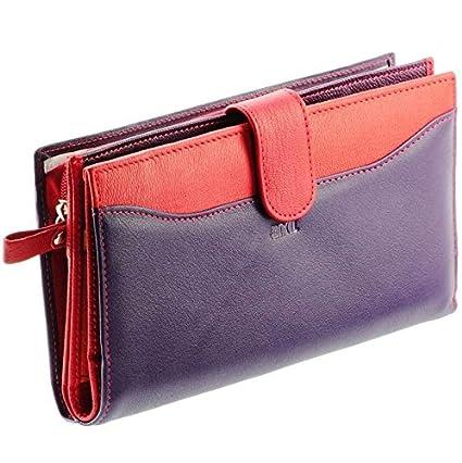 014a1daa4612 Portefeuille femme   Portefeuille en cuir Violet-Rouge N1555 Compagnon
