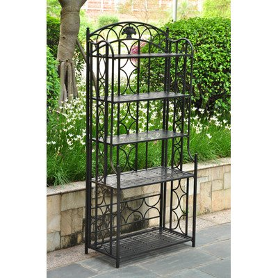 Bronze Dining Room Bakers Rack (Baker's Rack Finish: Antique Black)