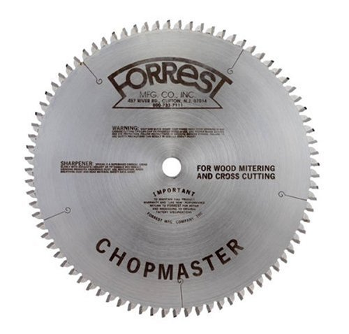 Forrest CM10806105 Chopmaster 10-Inch 80 Tooth ATBR Miter and Radial Saw Blade with 5/8-Inch Arbor