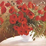 High Quality Polyster Canvas ,the High Quality Art Decorative Prints On Canvas Of Oil Painting 'Red Flowers', 18x24 Inch / 46x60 Cm Is Best For Basement Decoration And Home Artwork And Gifts