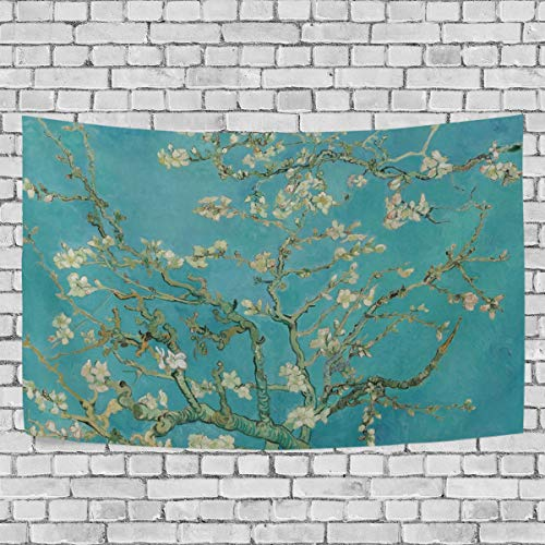 JSTEL Van Gogh Almond Blossom Tapestry Wall Hanging Decoration for Apartment Home Decor Living Room Table Throw Bedspread Dorm 60 x 40 inches
