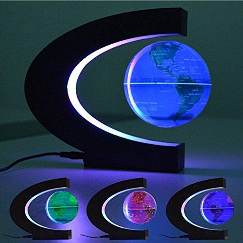 FUZADEL Electronic Magnetic Levitation Floating Globe Antigravity Magic/Novel Light Birthday Gift Xmas Decoration Santa Decor Home by FUZADEL (Image #1)