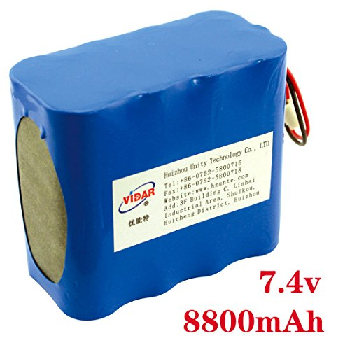 China Manufacture Latest Lithium ion Battery 7.4v 8800mah for LED Lighting