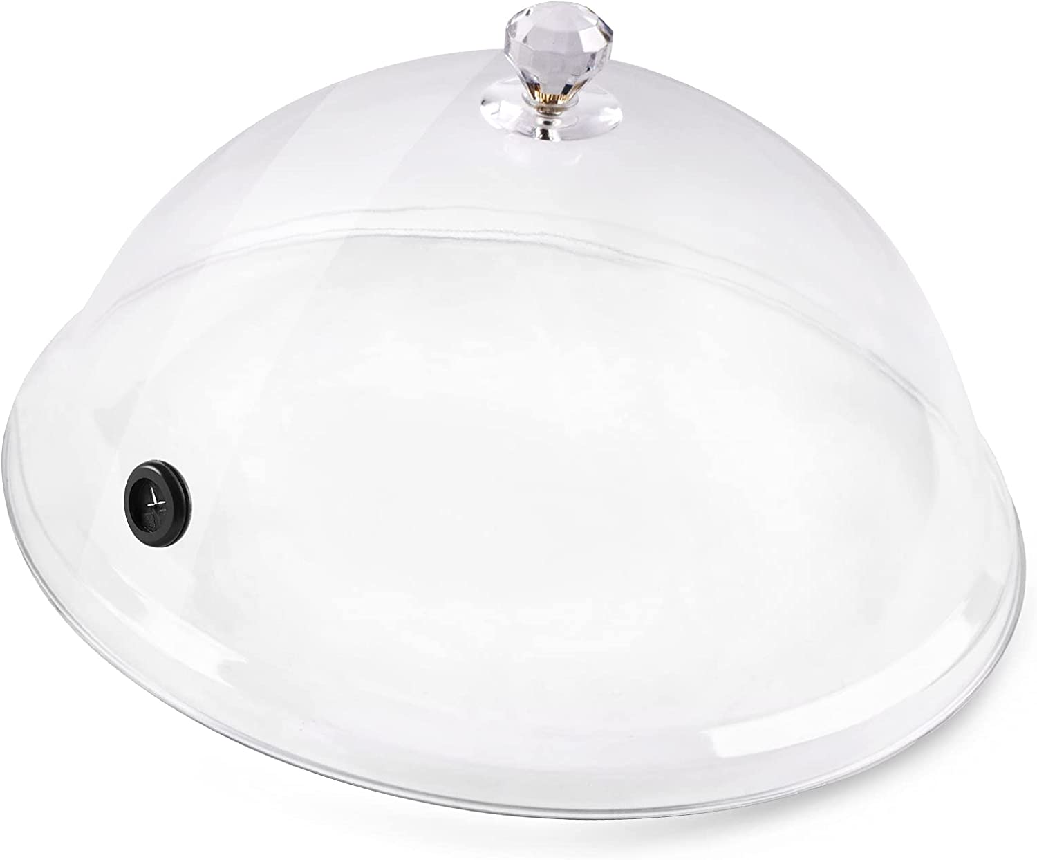 NEXT-SHINE Smoke Infuser Food Dome Cover 12 inch Plastic Lid Work for Plates Glasses Bowls with GM1100, Smoking Gun Specialized Accessory for Meat Cocktail Drinks BBQ