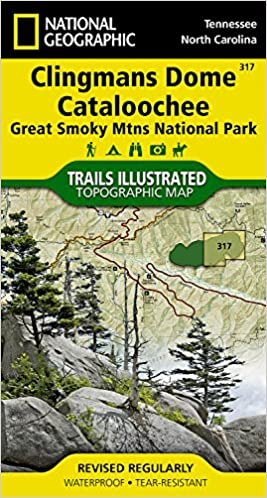 clingmans dome cataloochee great smoky mountains national park national geographic trails ilrated map 2015th edition
