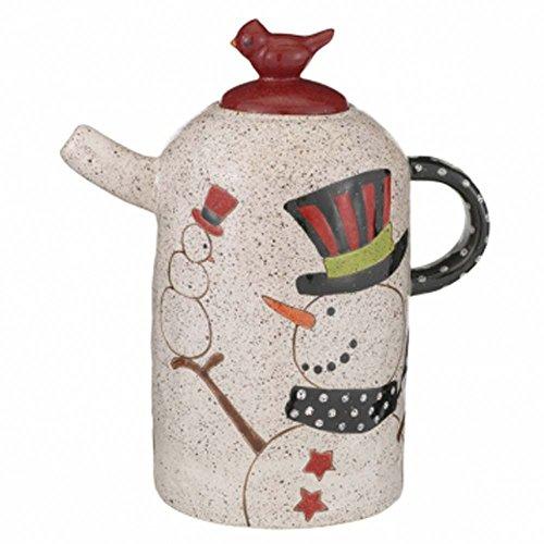 Grasslands Road - Christmas - Pottery Snowman Teapot - 471340 (Grasslands Road Teapot compare prices)