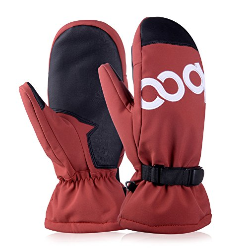 Vbiger Ski Gloves Waterproof Winter Mittens Col...