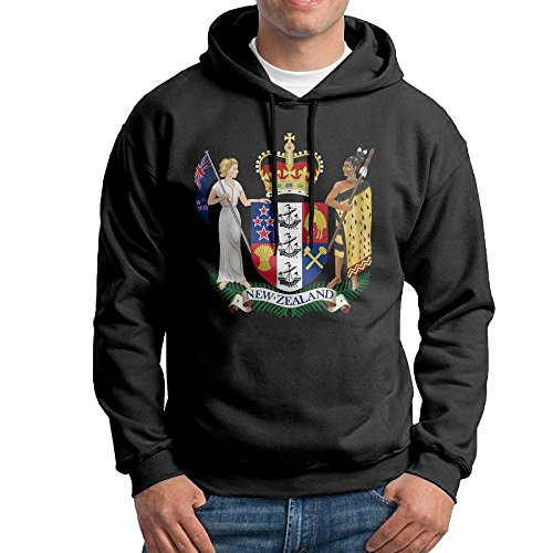 Men's Coat Of Arms Of New Zealand Hoodies Hooded Sweatshirt Pullover Sweater, Cotton Hooded Bodysuits ()