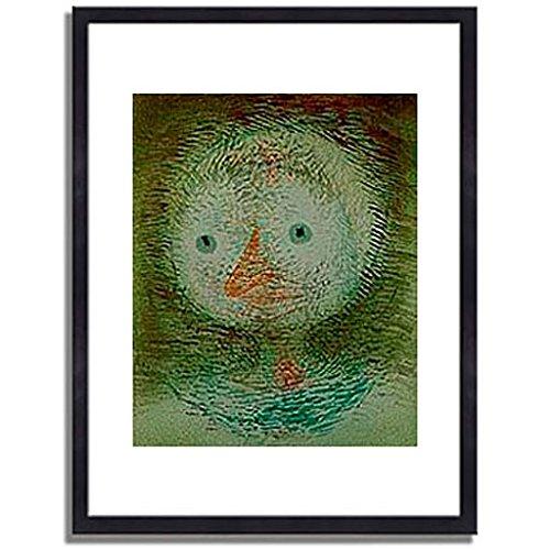 パウルクレー 「Maske dummes Madchen. 1928. 」 インテリア アート 絵画 壁掛け アートポスター フレーム:木製(黒) サイズ:L (412mm X 527mm) B00NG0UZUQ3.フレーム:木製(黒) 3.L (412mm X 527mm)