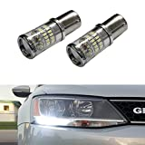 iJDMTOY (2) CANbus Error Free HID White 1156 Mirror Reflector LED Bulbs for 2011-2017 Volkswagen MK6 Jetta Daytime Running Lights