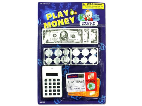 24 Packs of play money with counter toy set from D&D