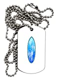 TooLoud Jellyfish Surfboard Adult Dog Tag Chain Necklace