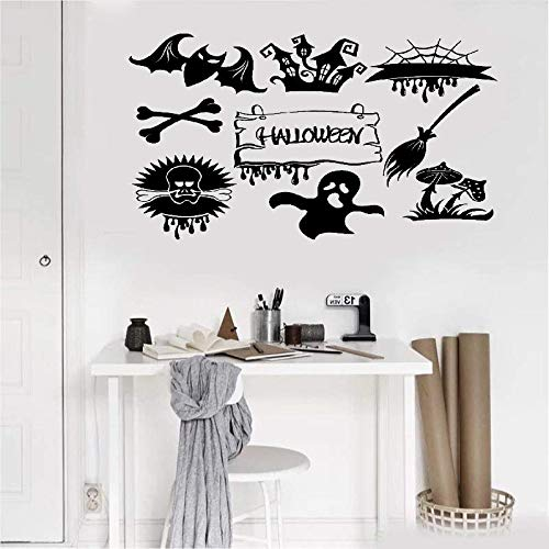 Wall Decal Quote Words Lettering Decor Sticker Wall Vinyl Halloween Feast Horror Monsters Ghosts -