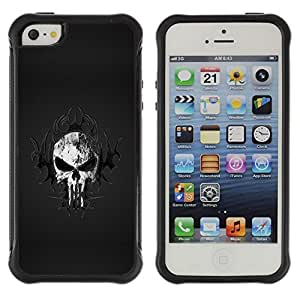 "Hypernova Defender Series TPU protection Cas Case Coque pour Apple iPhone SE / iPhone 5 / iPhone 5S [Cráneo tribal""]"