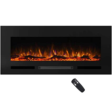 Pleasant Masarflame Charlton 50 Recessed Electric Fireplace Insert 13 Color Backlight 5 Flame Settings Log Set Or Crystal Options Touch Control Panel Home Interior And Landscaping Eliaenasavecom