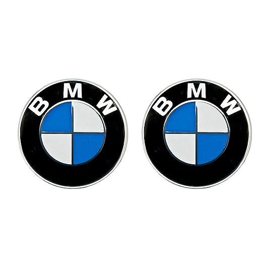 2 x BMW Emblem Emblemas para capó y Maletero 82mm Hood Logo Delantero Trasero Bonnet Boot para la Serie BMW: Amazon.es: Coche y moto