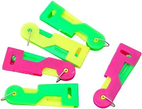 couleur al/éatoire Toyvian Guide de filetage automatique de laiguille Dispositif daiguille Personnes /âg/ées Fournitures daiguille faciles /à utiliser 30pcs