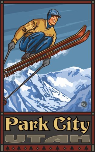 Northwest Art Mall Park City Utah Ski Jumper Artwork by Paul A Lanquist, 11-Inch by - City In Park Mall Utah