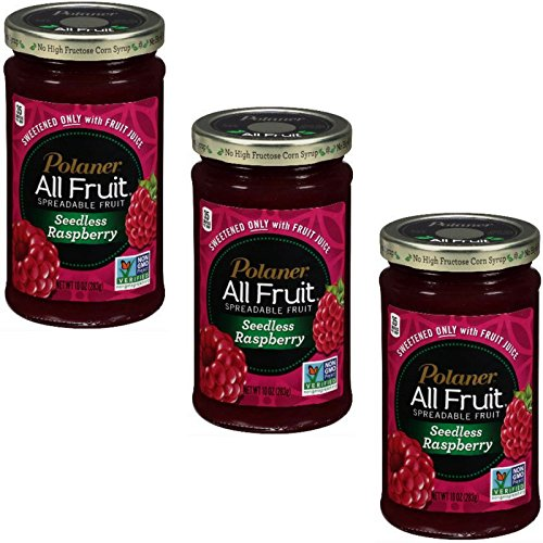 Polaner All Fruit Seedless Raspberry Spreadable Fruit 10 Oz (Seedless Raspberry, Pack of ()