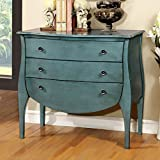 Furniture of America CM-AC139BL Havre Blue 3 Drawer Chest