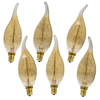 Enlightened Ambience 40 Watt Antique Edison Style Chandelier Light ...