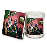 Home of Great Dane 4 Dogs Playing Poker Mug and Coaster Set