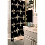 NFL Decorative Shower Curtain, New Orleans Saints