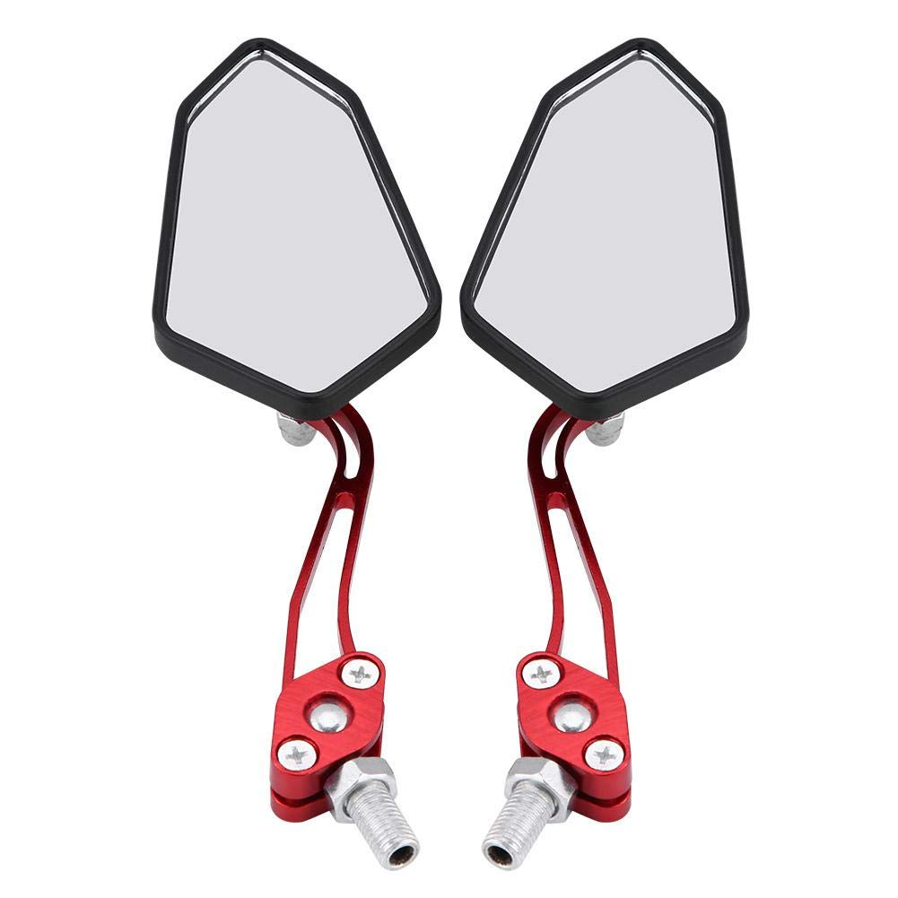 rosso universale Specchietto retrovisore laterale In lega di alluminio Braccio di montaggio Adatto per la maggior parte delle motociclette EBTOOLS Specchietto retrovisore per moto
