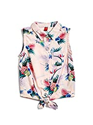 GUESS Factory Coley Printed Sleeveless Top (2-6)
