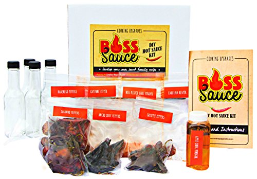 Price comparison product image Cooking Upgrades Deluxe DIY Hot Sauce Kit featuring Carolina Reaper Complete Make from Home Set